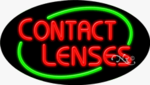 Contact Lenses Oval Neon Sign