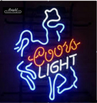 Coors Cowboy Neon Sign