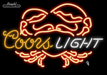 Coors Crab Neon Sign