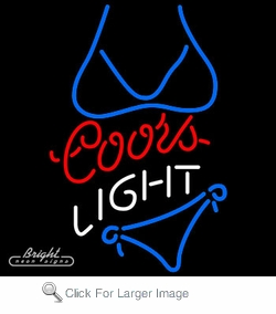 Coors Light Blue Bikini Neon Sign Only 229 00 Signs C