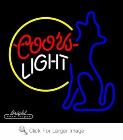 Coors light coyote neon beer sign only 22900 signs c coors light coyote neon beer sign aloadofball Choice Image