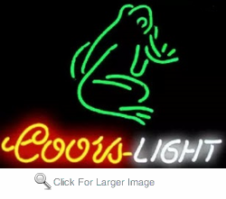 Coors Light Frog Neon Sign