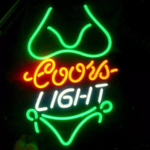 Coors Light Green Bikini Neon Sign
