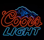 Coors Light Rockies Mountains Neon Sign