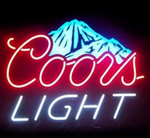 Coors Light Rocky Mountain Neon Sign