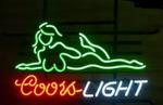 Coors Light Sexy Girl Neon Sign