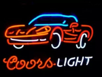Coors Light Sports Car Neon Sign