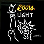 Coors Light Statue Neon Sign
