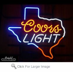 Coors light texas neon sign only 22900 signs c coors light texas neon sign mozeypictures Gallery