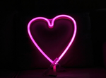 Cordless Heart LED Pink Light