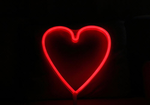 Cordless Heart LED Red Light