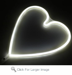 Cordless Heart LED White Light