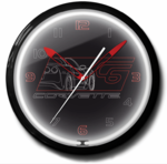 "Corvette C6 Black 20"" Neon Clock"