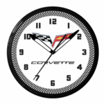 "Corvette C6 White 20"" Neon Clock"