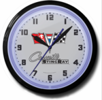 "Corvette Stingray 20"" Neon Clock"