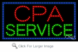 CPA Service LED Sign