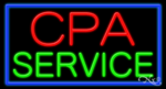 CPA Service Business Neon Sign