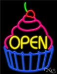 Cupcake Open Business Neon Sign