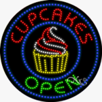 Cupcakes LED Sign
