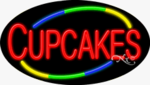 Cupcakes Oval Neon Sign