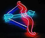 Cupid Arrow Neon Sign