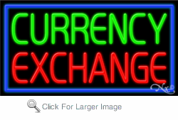 Currency Exchange Business Neon Sign
