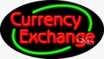 Currency Exchange Oval Neon Sign