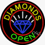 Diamonds LED Sign