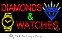 Diamonds & Watches LED Sign