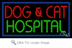 Dog & Cat Hospital LED Sign