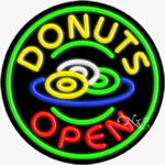 Donuts Circle Shape Neon Sign