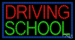 Driving School LED Sign