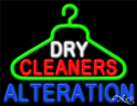 Dry Cleaners Alteration Business Neon Sign