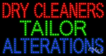 Dry Cleaners Tailor Alterations LED Sign