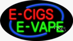 E Cigs E Vape Oval Neon Sign