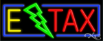 E Tax Business Neon Sign