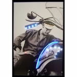 Elvis on Motorcycle Neon & LED Picture