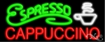 Espresso Coffee Cappuccino Neon Sign