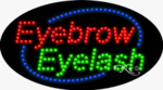 Eyebrow Eyelash LED Sign