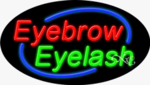 Eyebrow Eyelash Oval Neon Sign