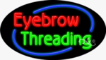Eyebrow Threading Oval Neon Sign