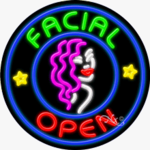 Facial Open Circle Shape Neon Sign