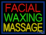 Facial Waxing Massage LED Sign