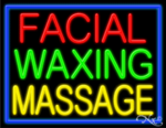 Facial Waxing Massage Business Neon Sign