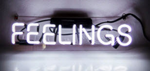 Feelings Neon Sign Color White