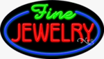 Fine Jewelry Oval Neon Sign