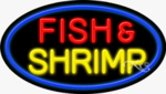Fish & Shrimp Oval Neon Sign