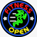 Fitness Open Circle Shape Neon Sign