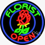 Florist Circle Shape Neon Sign