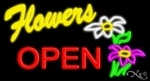 Flower Open Neon Sign
